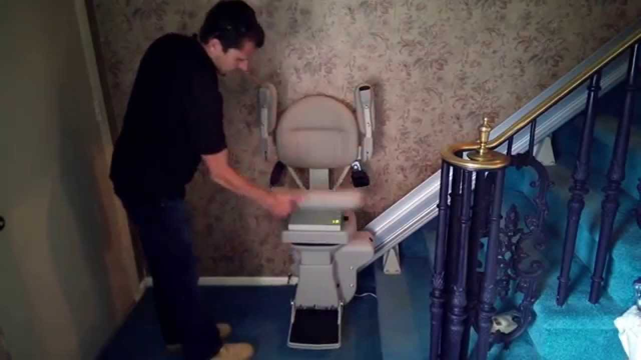 Bruno Elite Stair Lifts Power Folding Footrest Demo