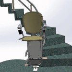 Platinum Full Spiral stairs with Inner curved raise