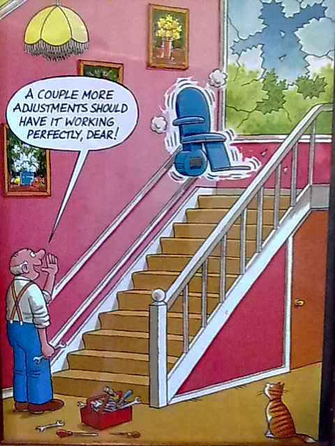 this isn't a slow stair lift