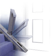 hinged rail for acorn stairlifts