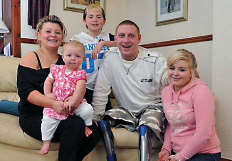 Soldier Gets a Stair Lift
