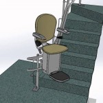 Platinum Exterior Multi touchdown Stairs with curved carry
