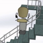 Beltran Multi touchdown stairs with curved carry
